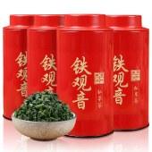 煮者茶叶 乌龙茶 安溪铁观音清香型125g*4罐